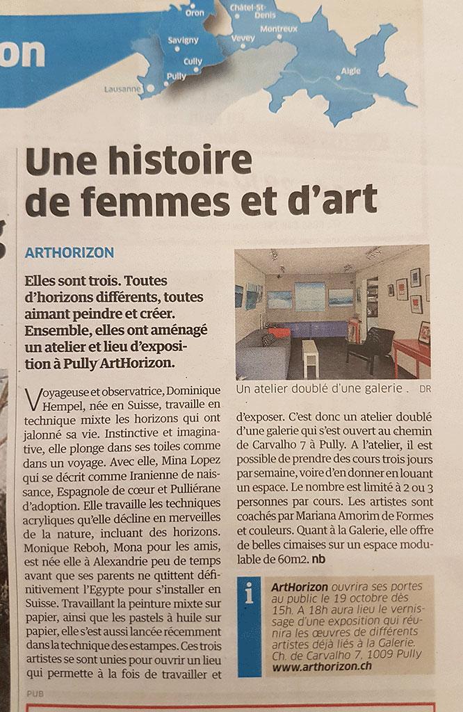 Une histoire de femmes et d'art